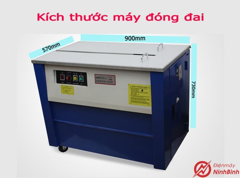 Kích thước máy đóng đai thùng