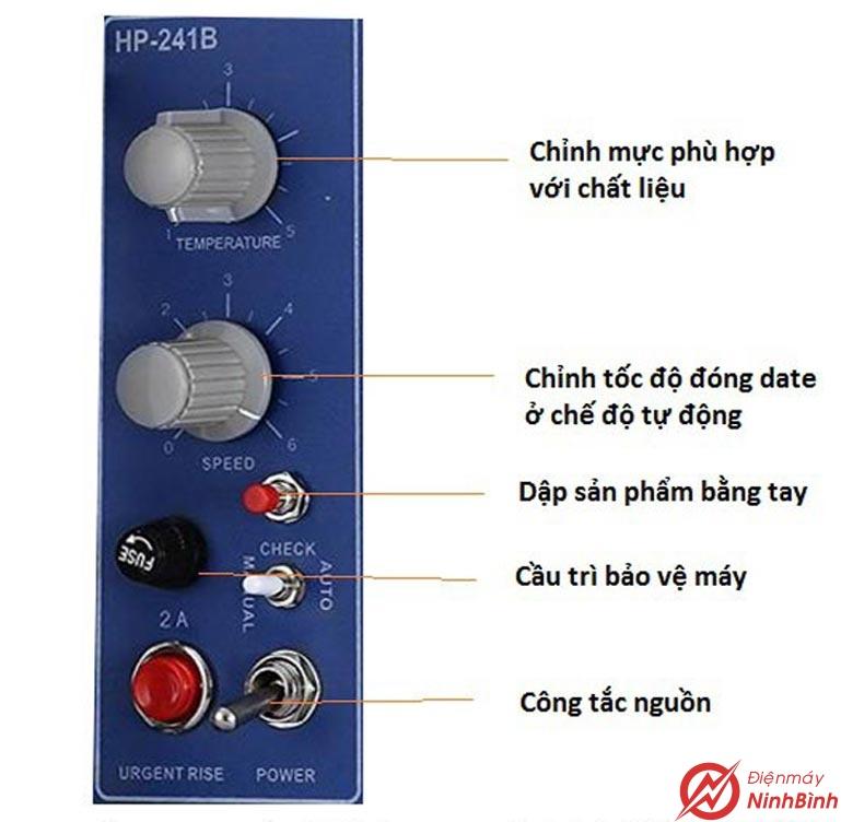 Bảng điều khiển máy in date Hp-241B